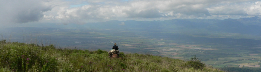Riding in the sub-Andean hills of Salta