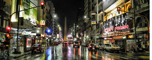 Night life in Argentina