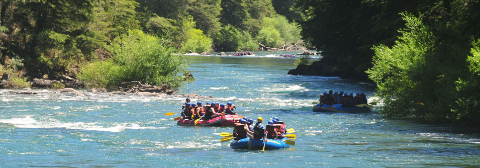 White water rafting on the River Manso